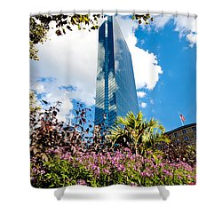 Man And Nature Shower Curtain by Greg Fortier