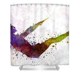 Man Exercising Workout Fitness  Shower Curtain
