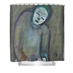 Man Holding Bird Shower Curtain