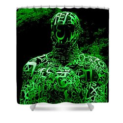 Man In Green Shower Curtain