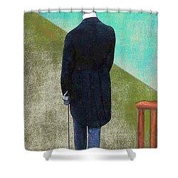 Man In Hat Shower Curtain
