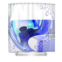 Man In The Air Shower Curtain by Thibault Toussaint