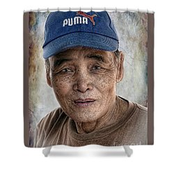 Man In The Cap Shower Curtain