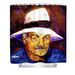 Man In The Panama Hat Shower Curtain