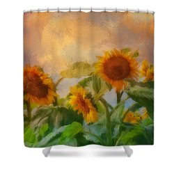 Man It's A Hot One Shower Curtain by Colleen Taylor