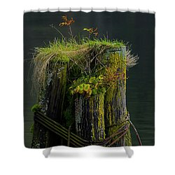 Man Made Island-signed-#2127 Shower Curtain