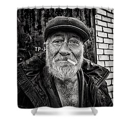 Shower Curtain featuring the photograph Man Of Freedom by John Williams