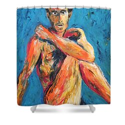 Man Power Shower Curtain