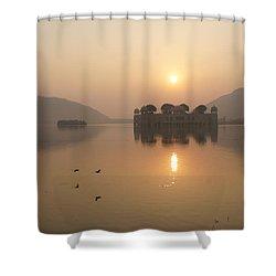 Man Sagar Lake Shower Curtain