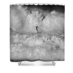 Man Vs Nature Shower Curtain