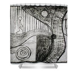 Man Walking Shower Curtain