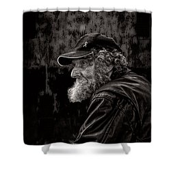 Man With A Beard Shower Curtain