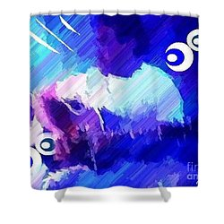 Man With A Guitar Shower Curtain