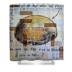 Mana' Cubano Shower Curtain by Jorge L Martinez Camilleri