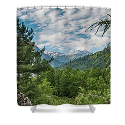Manali In Summer Shower Curtain