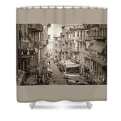Manarola In Sepia Shower Curtain