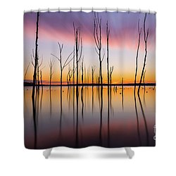 Manasquan Reservoir Long Exposure Shower Curtain