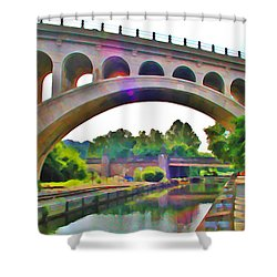 Manayunk Canal Shower Curtain by Bill Cannon