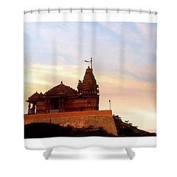 Manbhavan Tekri Shower Curtain