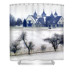 Manchester Farm In Winter Shower Curtain