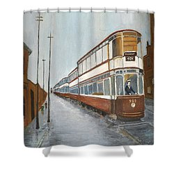 Manchester Piccadilly Tram Shower Curtain