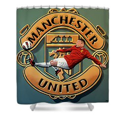 Manchester United Painting Shower Curtain