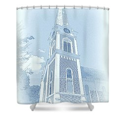 Manchester Vt Church Shower Curtain