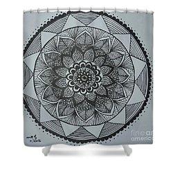 Mandal Shower Curtain by Usha Rai