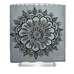 Mandal2 Shower Curtain by Usha Rai