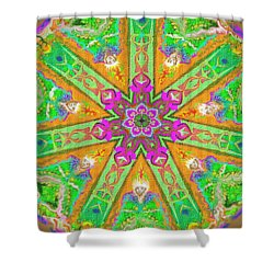 Shower Curtain featuring the painting Mandala 12 27 2015 Kings And Priests by Hidden Mountain