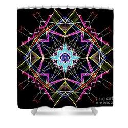 Shower Curtain featuring the digital art Mandala 3304a  by Rafael Salazar