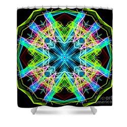Shower Curtain featuring the digital art Mandala 3308a  by Rafael Salazar