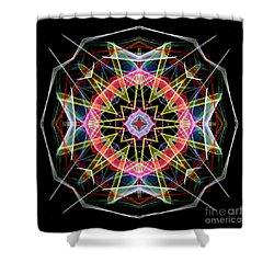 Shower Curtain featuring the digital art Mandala 3313 by Rafael Salazar