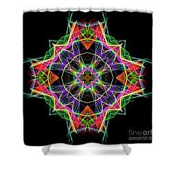 Shower Curtain featuring the digital art Mandala 3324a by Rafael Salazar
