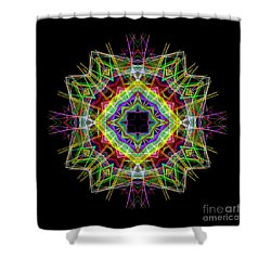 Shower Curtain featuring the digital art Mandala 3333 by Rafael Salazar