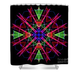 Shower Curtain featuring the digital art Mandala 3351 by Rafael Salazar