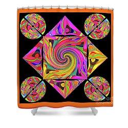Mandala #50 Shower Curtain by Loko Suederdiek