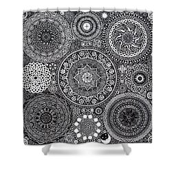 Mandala Bouquet Shower Curtain