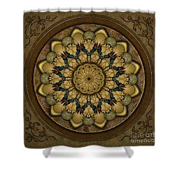 Mandala Earth Shell Shower Curtain