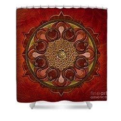 Mandala Flames Shower Curtain