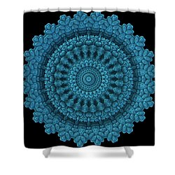 Shower Curtain featuring the digital art Mandala For The Masses by Lyle Hatch