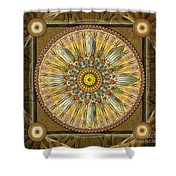 Mandala Illumination V1 Shower Curtain by Bedros Awak