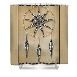 Mandala In Silver Shower Curtain
