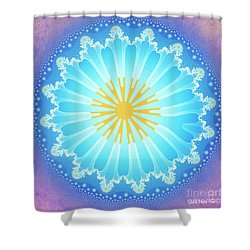 Shower Curtain featuring the digital art Mandala by Jutta Maria Pusl