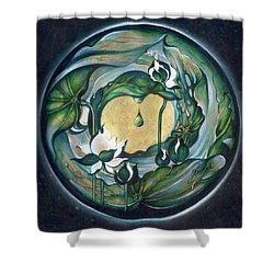 Shower Curtain featuring the painting Mandala Of Regeneration by Anna Ewa Miarczynska