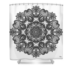 Shower Curtain featuring the digital art Mandala To Color 2 by Mo T