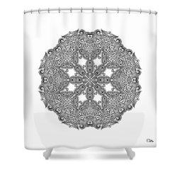 Mandala To Color Shower Curtain by Mo T