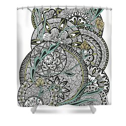 Mandalas With Gold Flowers Shower Curtain