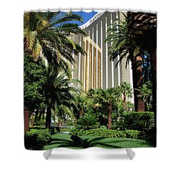 Shower Curtain featuring the photograph Mandalay Bay Hotel by John Schneider