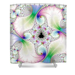 Mandebrot In Pastel Fractal Wonderland Shower Curtain